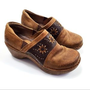Ariat Flower Leather Clogs